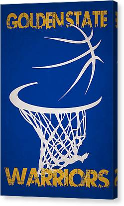 Dunk Canvas Print - Golden State Warriors Hoop by Joe Hamilton