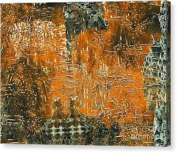 Golden Stellar Fields Canvas Print by Bernard MICHEL