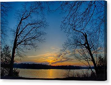Golden Sunrise Canvas Print by Dan Holland
