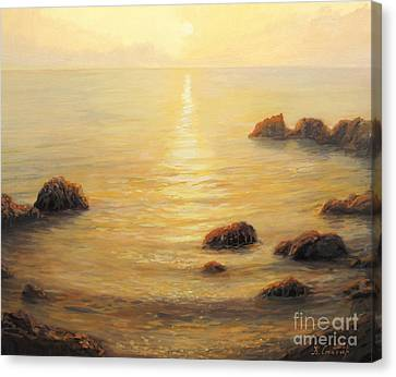 Golden Sunrise Canvas Print by Kiril Stanchev