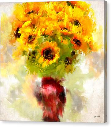 Impressionism Canvas Print - Golden Suns by Lourry Legarde