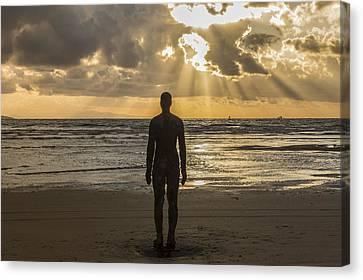 Golden Sunset At Crosby Beach Canvas Print