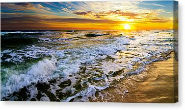 Golden Sunset Canvas Print by Eszra Tanner