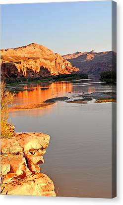 Golden Sunset On The Colorado Canvas Print by Marty Koch