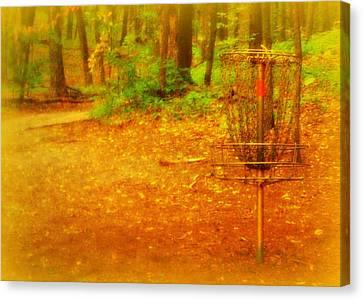 Golden Target Canvas Print
