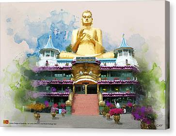 Golden Temple Of Dambulla Canvas Print by Catf
