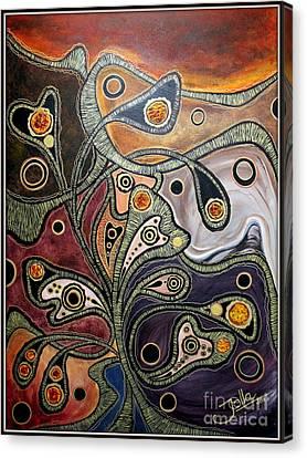 Golden Thought Canvas Print by Jolanta Anna Karolska