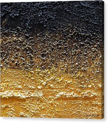 Canvas Print featuring the painting Golden Time - Abstract by Ismeta Gruenwald