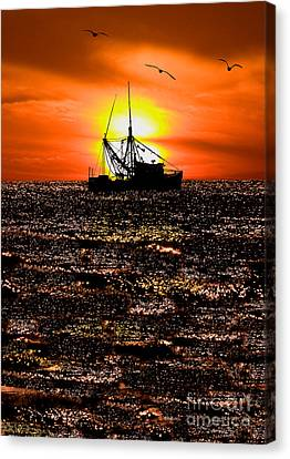 Golden Trawler - Outer Banks Canvas Print