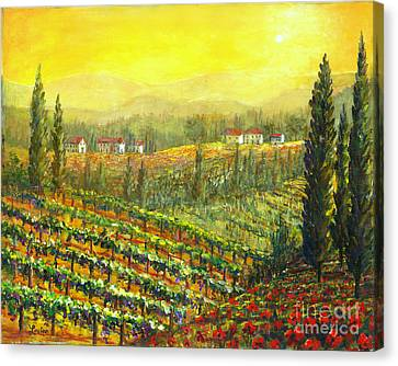 Golden Tuscany Canvas Print