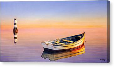 Golden Twilight Canvas Print by Horacio Cardozo