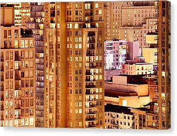 Canvas Print featuring the photograph Golden Vancouver Cityscape Cdxii By Amyn Nasser by Amyn Nasser