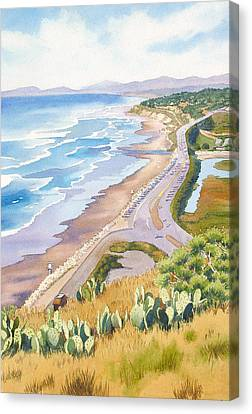 Golden View From Torrey Pines Canvas Print