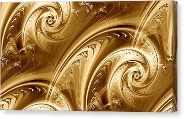 Golden Waves Canvas Print