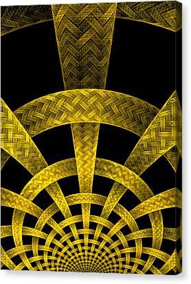 Golden Weave Canvas Print