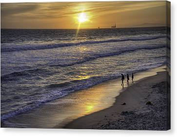Golden West Sunset Canvas Print