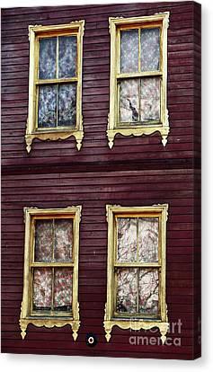 Sultanhmet Canvas Print - Golden Windows by John Rizzuto