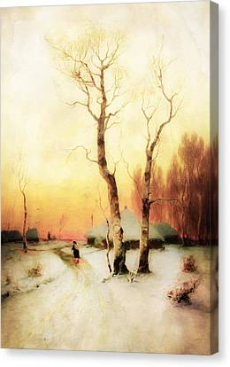 Golden Winter Of Forgotten Dreams Canvas Print by Georgiana Romanovna