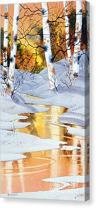 Golden Winter Canvas Print by Teresa Ascone