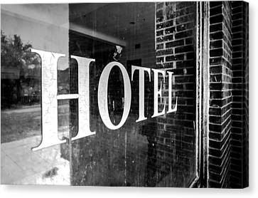 Goldfield Hotel Window Canvas Print by Cat Connor