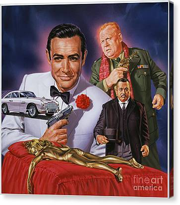 Goldfinger Canvas Print by Dick Bobnick