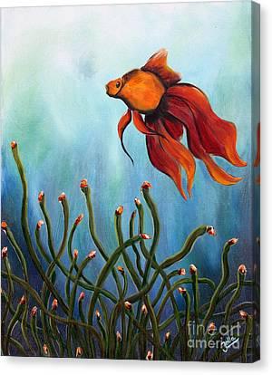 Goldfish Canvas Print by Jolanta Anna Karolska
