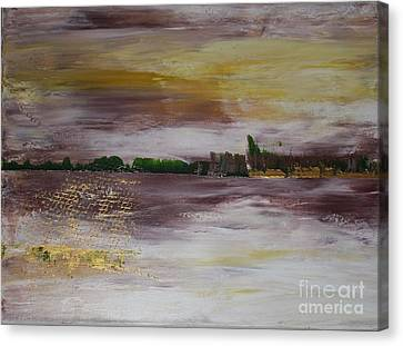 Goldfishing Canvas Print by Susanne Baumann
