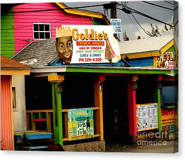 Chowder House Canvas Print - Goldie's Conch House by Luther Fine Art