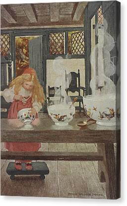 Porridge Canvas Print - Goldilocks by British Library