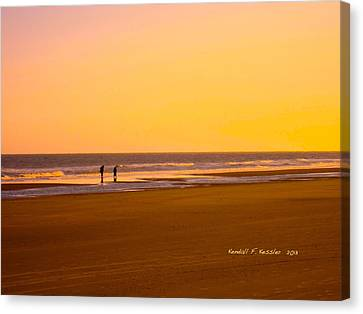 Goldlen Shore At Isle Of Palms Canvas Print by Kendall Kessler