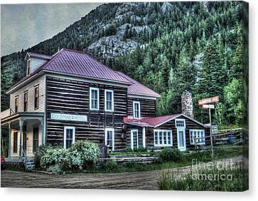 Goldminer Hotel Canvas Print by Juli Scalzi