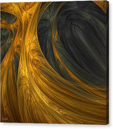 Gold Color Canvas Print - Gold's Grace by Lourry Legarde