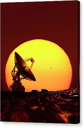 Goldstone Observatory At Night Canvas Print by Detlev Van Ravenswaay