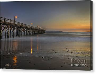 Goleta At Sunset Canvas Print