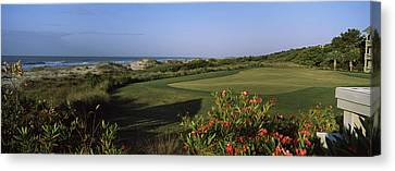Golf Course At The Seaside, Kiawah Canvas Print by Panoramic Images