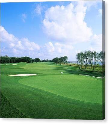 Golf Course, Currituck Club, Corolla Canvas Print by Panoramic Images