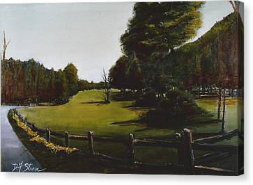 Golf Course In Duxbury Ma Canvas Print by Diane Strain