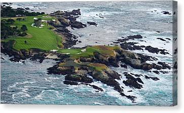 Golf Course On An Island, Pebble Beach Canvas Print by Panoramic Images