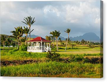 Canvas Print featuring the photograph Golf Course On Poipu Shores Kauai by Photography  By Sai