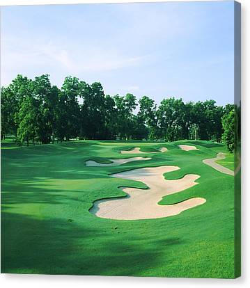 Golf Course, Shadow Hawk Golf Club Canvas Print by Panoramic Images