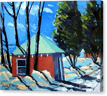 Golf Course Shed Series No.4 Canvas Print by Charlie Spear