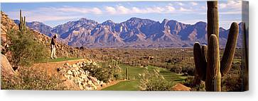 Golf Course Tucson Az Canvas Print by Panoramic Images