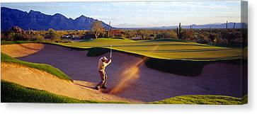 Golf Course Tucson Az Usa Canvas Print by Panoramic Images