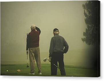 Golf In A Fog Canvas Print