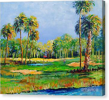 Golf In The Tropics Canvas Print