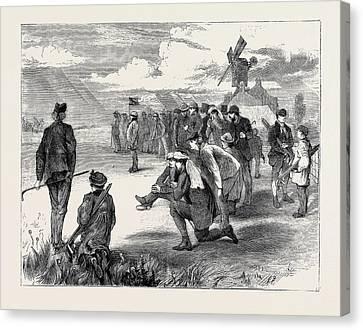 Golf Match Between The Royal Blackheath And London Scottish Canvas Print