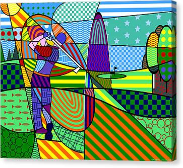 Canvas Print featuring the digital art Golf by Randall Henrie