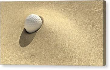 Golf Sand Trap Canvas Print by Allan Swart