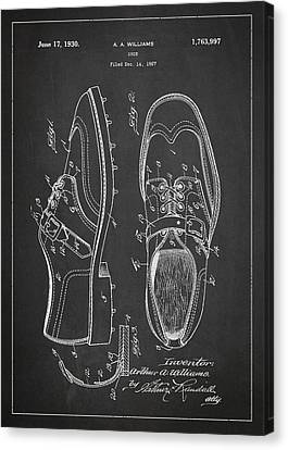 Golf Shoe Patent Drawing From 1927 Canvas Print by Aged Pixel
