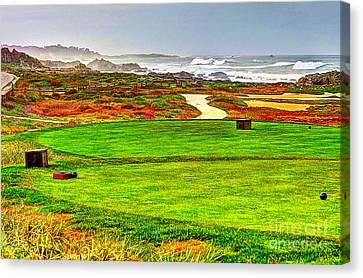 Golf Tee At Spyglass Hill Canvas Print by Jim Carrell